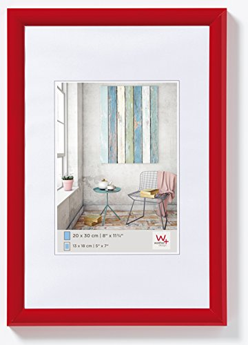 walther design KP318R Trendstyle Kunststoffrahmen, 13 x 18 cm, rot