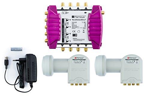 Opticum OMS 9/8 Multischalter (2x Quattro LNB, 2x Satellite, max: 8 Teilnehmer)
