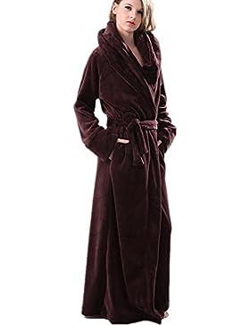 DMMSS Coppie più lunghi spessi accappatoi Coral Fleece camicia da notte abbigliamento pigiama di flanella , xl...