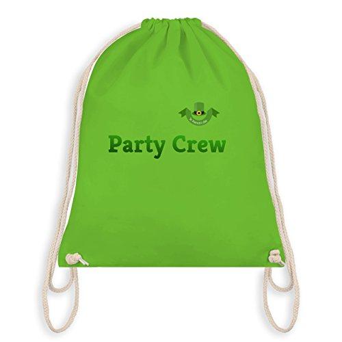 Festival - St. Patricks Day Party Crew - Unisize - Hellgrün - WM110 - Turnbeutel I Gym (Party Patricks St)