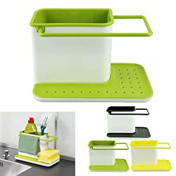 new kitchen self draining sink tidy organiser sponge brush holder, assorted color