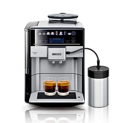 SiemensTE657M03DE EQ.6 plus s700 Kaffeevollautomat (automatische Reinigung, Direktwahl, zwei Tassen gleichzeitig, 1.500 Watt) edelstahl