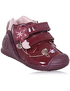 BIOMECANICS - Zapato burdeos de charol, ideal para el gateo y el primer paso, hecho de materiales ligeros, Niña...