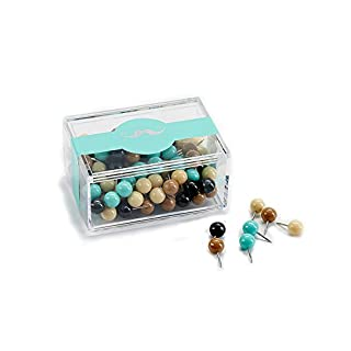 Push Pins, ANGGO Mini Map Tacks Thumbtacks Plastic Head with Steel Stainless Point, Assorted Colors for Home & Office (colour-3 (120pcs))