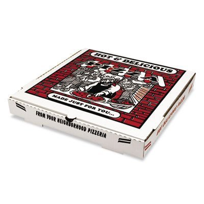'16 Takeout Pizza Container in White (Case Of 50) by Pizza Box Pizza-boxen