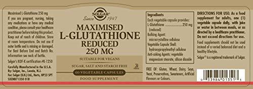 Solgar L-Glutatión Aminoácido - 60 Cápsulas