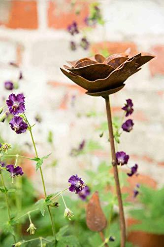 kuheiga Gartenstecker/Dekoblume Rose