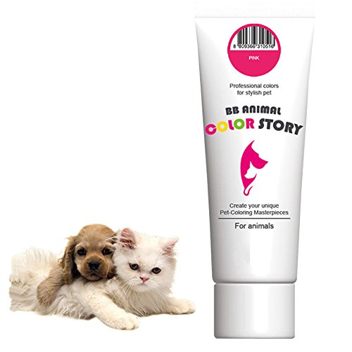 Pink 50ml Dog Hair Dye Hair Coloring Professional Colors for Stylish Pet