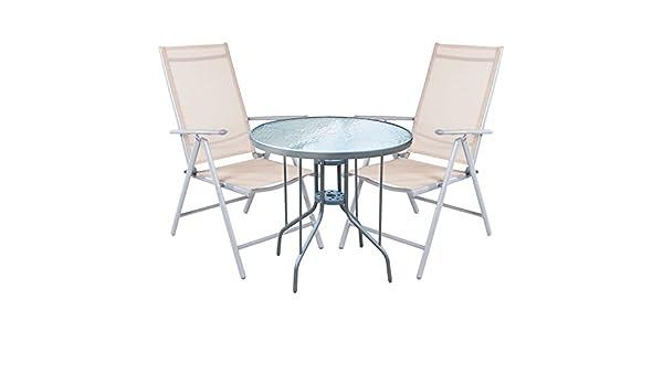Mojawo ® 3 pezzi bistroset BISTROT Set Set da balcone grigio argento//nero