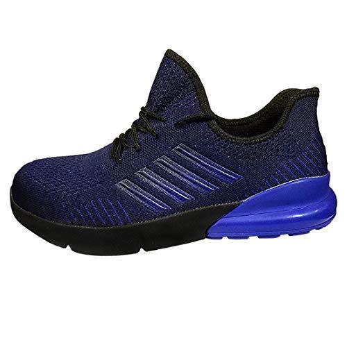 Sicherheitsschuhe Herren s3 Leicht luftdurchlässige Anti-Smashing Rutschhemmend Bequeme Sneakers,Blau,45EU