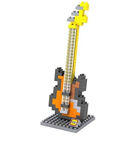 Nanoblock 3D-Puzzle Electric Bass - Schönes Geschenk für Musiker (Lego Instrumente)