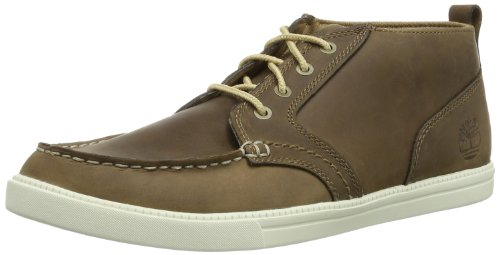 Timberland Herren Newmarket_Fulk LP MT Leather Chukka Boots, Braun (Toasted Coconut Light Brown), 41.5 EU Timberland Moc Toe
