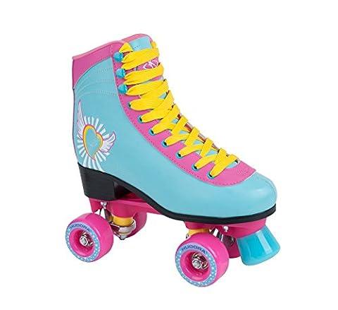 HUDORA Rollschuhe Damen Mädchen Skate Wonders, Roller-Skates, Disco-Roller, Gr. 39-40, 13164