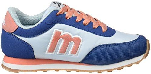 Mtng Unisex, bambini Jogger scarpe sportive Blu (ACTION PU Blu Royalraspe Salmone)