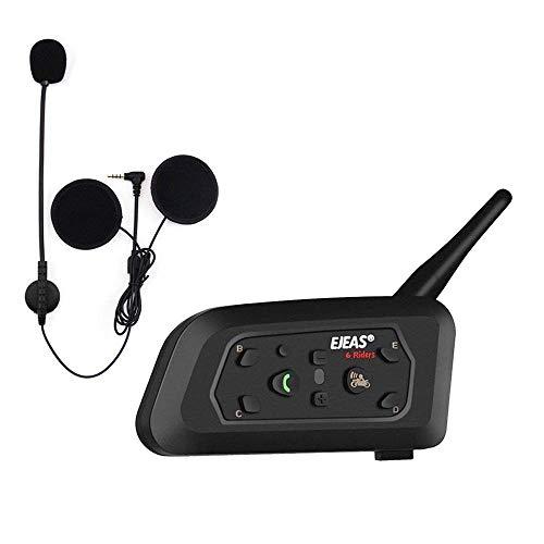 EJEAS V6 Pro BT Interphone 1200M Bluetooth Motocicleta Motocicleta Casco Intercom Auriculares...