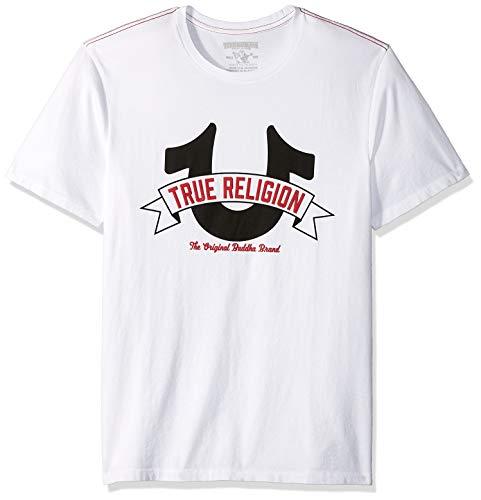 True Religion Herren Horseshoe Logo Tee T-Shirt, weiß, XX-Large -