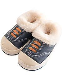 GFLD Pantofole Scarpe di Cotone Bambino Autunno Inverno Carino Ispessimento  Caldo Fondo Spessore Pavimento Antiscivolo Resistente 05d0faeac0f