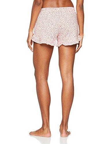 Iris & Lilly Damen Mini Schlafanzughose Cheetah Mehrfarbig (Pink/Cream)