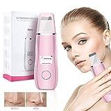 Ultraschallpeelinggerät Haut Scrubber mit LCD Anzeige USB-Kabel, Ultraschall Peeling Skin Scrubber Akne-Entferner Mitesserentferner für Gesichtsreinigung Hautpflege(Rosa)