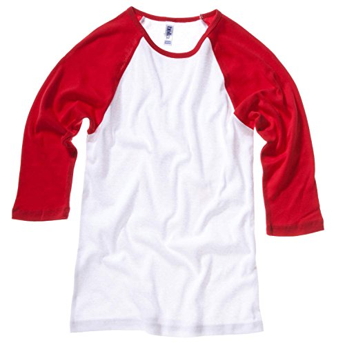 Bella Canvas Baby Rib 3/4 Sleeve Raglan Contrast T-Shirt White/Navy
