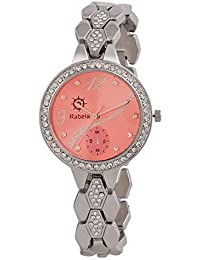 Rabela Women's Analogue Pink Dial Watch RAB-832