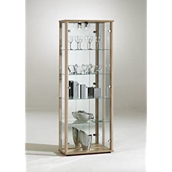 LOCKABLE HOME RETAIL USE GLASS DOUBLE DISPLAY CABINETS (DOUBLE OAK ...