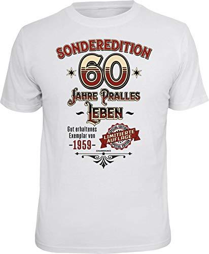 RAHMENLOS Original Geschenk T-Shirt zum 60. Geburtstag: Sonderedition pralles Leben L