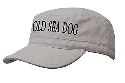 Boating Hat Captain Sailing Cap Army Yacht Military Baseball Caps Drunk Sailor,Ancient Mariner. Galley Slave ,Old See Dog (Old See Dog stone