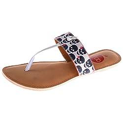 Dash Of Bling Womens Matt Satin Flatform Sandals- 40