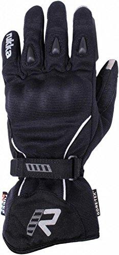 Rukka Souwester Suki dama guantes de moto, color negro y plateado