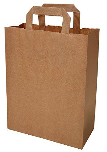 250 Papiertragetaschen in braun 32+12x42 cm - good4food