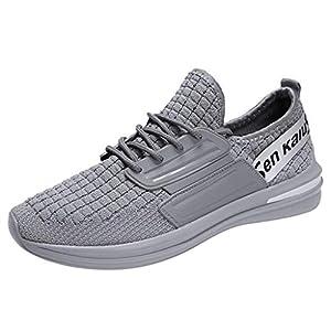 EUZeo Herren Wild Lightweight Running Shoes Mode Laufschuhe gewebt atmungsaktive Turnschuhe Schuhe Straßenlaufschuhe Running Fitness Gym Outdoor Sportschuhe Sommerschuhe