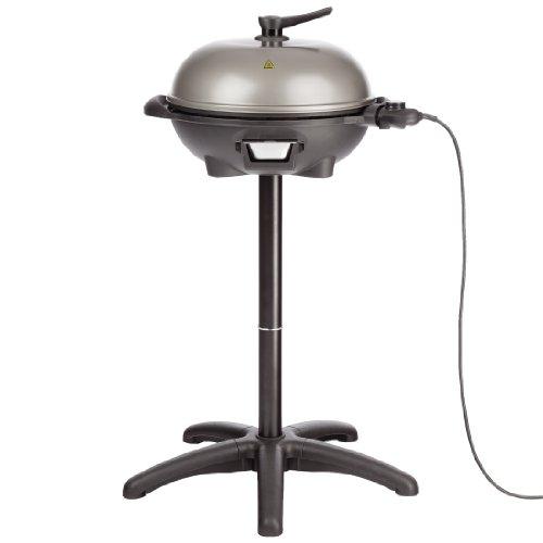 Ultratec BBQ Elektro-Kugelgrill und Thermostat, 2-in-1 Grill (Tisch- und Standgrill), schwarz/grau