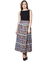 Panit Black/Printed Maxi Dress Medium
