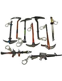 FOONEE - Llavero de con diseño de pistolas de metal, diseño de la batalla de Royale