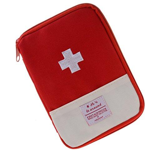 perfk Erste Hilfe Tasche im Freien Notfalltasche leer - Rot, L