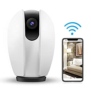 Wireless Camera 1080P Home WIFI Surveillance - AKASO HD Security Camera Baby/Pets Monitor, Two-way Audio, Night Vision, Remote Access, Motion Detection, Cloud Storage, Work with Alexa (P30)