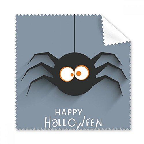 DIYthinker Halloween Insekt Spinne Spinnennetz Illustration Brillenputztuch-Reinigungstuch Telefon Schirm-Reinigungsmittel 5pcs Geschenk (Halloween Spinnennetze Spinnen,)
