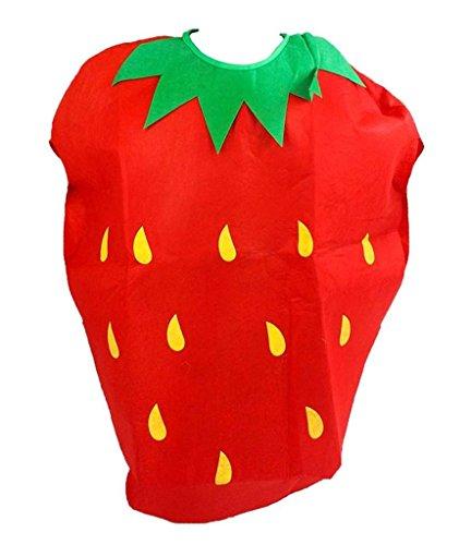 Petitebelle Obst Gemüse Halloween Weihnachten Kostüm-Satz-Party Unisex Erwachsene Wear Einheitsgröße Erdbeere
