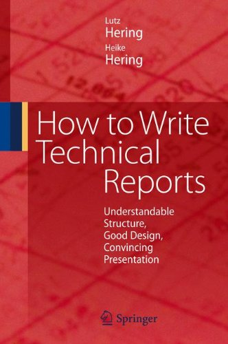 how to write technical report pdf Engineering technical reports t echnical reports include various types of technical information for example, if you need to report why a design or piece of equipment failed, you'd write a forensic report.