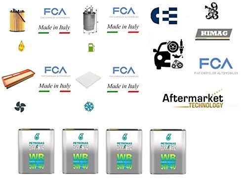123/2 Kit filtri tagliando Grande Punto 1.3 Multijet 66 Kw + 4 Litri Olio Selenia WR 5W40