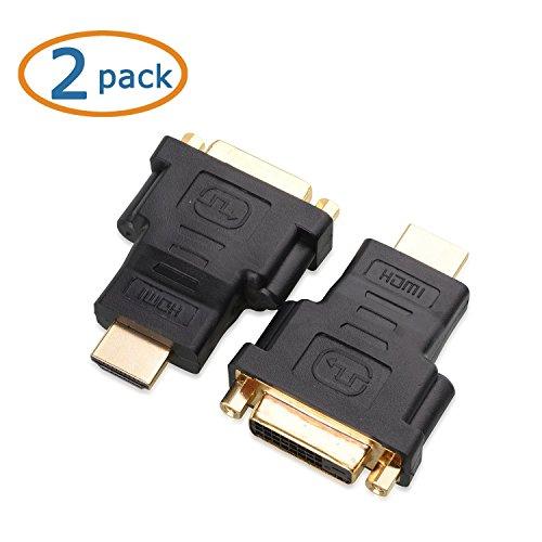 Cable Matters® 2 Pack, Gold überzogen HDMI auf DVI (männlich zu weiblich) Adapter Gold-hdmi-adapter