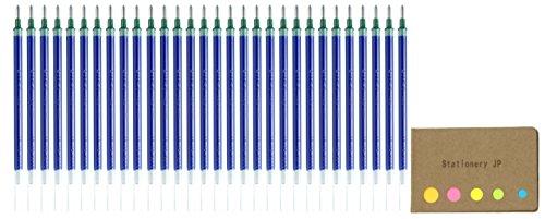 Uni-ball UMR-10 Refills for Signo Gel Ink Ballpoint Pen, UM-153, 1.0mm, Blue Ink, 30-pack, Sticky Notes Value Set - 30k Compact