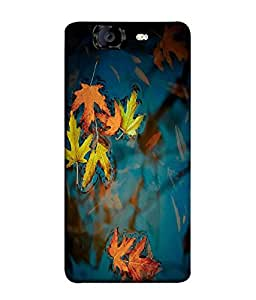 FUSON Designer Back Case Cover for Micromax Canvas Knight A350 :: Micromax A350 Canvas Knight (Blue background Love Heart Spades Multi Colour Jewells)