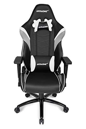 AKRACING Core LX Gaming Stuhl mit 5 Jahren Herstellergarantie für PC/PS4/XBOX/Nintendo, Schreibtischstuhl mit Kissen, PU-Kunstleder - Schwarz/Weiß