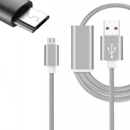 Digi Pig Colore micro USB cavo per il Wilko View. Nylon intrecciato cavo (2metre) con alta velocità di ricarica e trasferimento dati
