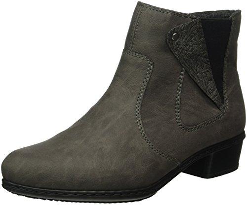 Rieker Damen Y0741 Kurzschaft Stiefel, Grau (fumo/Grigio / 45), 37 EU