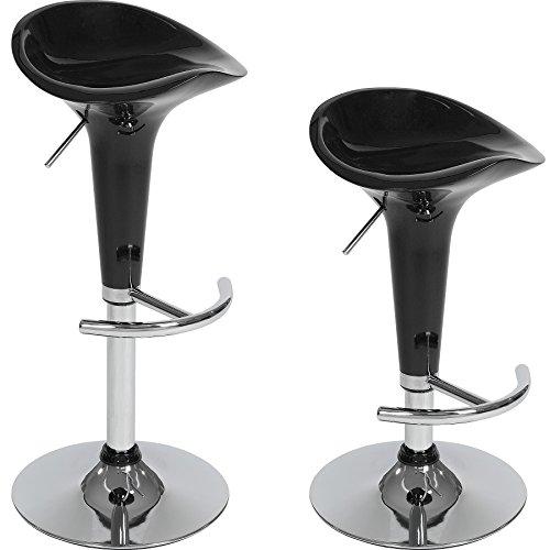 TecTake Tabourets de Bar Chaise Fauteuil bistrot réglable pivotant siège Design - diverses modèles - (2X Peter | no. 401563)