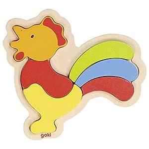 GOKI maderaPuzzles de maderaGOKIGallo, Puzzle, Multicolor (1)