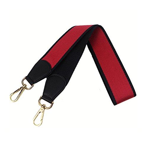 Umily Damen 103cm schultergurt breiter schultergurt/ schulterriemen handtaschen/schulterriemen bunt für schulterriemen tasche, Tragetaschen und Handtaschen(Orange) Schwarz + rot